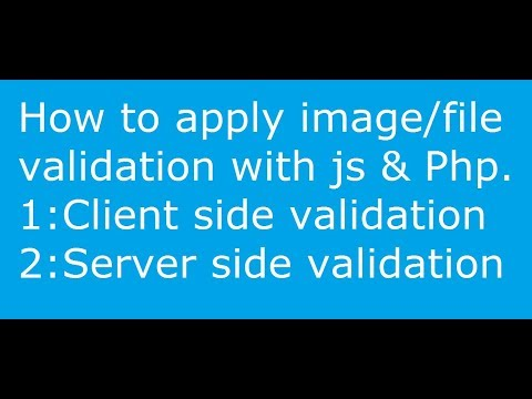 File  or Image Validation