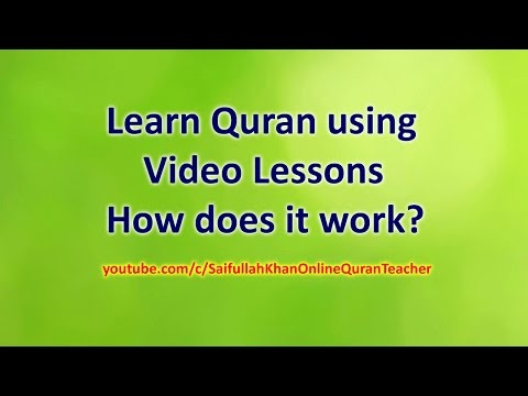 Learn Quran Reading with Tajweed for free - How does our channel Work?