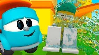 #LeoJunior baut eine Waschanlage – Leo Junior Cartoons auf Deutsch – Deutsche Zeichentrickfilme