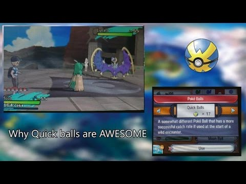 Pokemon Sun & Moon - Best way to catch Lunala or Solgaleo and how Quickballs are great