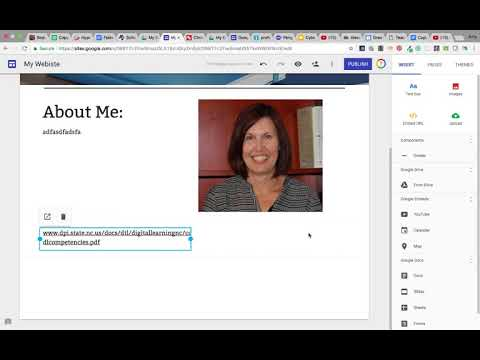 Insert Content to New Google Site