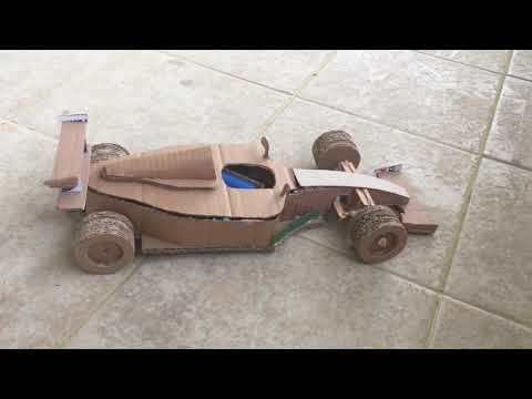 How to make RC F1 car from cardboard-DIY RC Vehicles