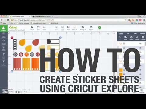 How to Create Sticker Sheets Using Cricut Explore & Cricut Design Space