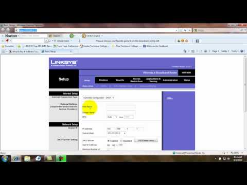 How To Change Ip For Linksys Router