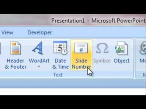 microsoft powerpoint - how to add a slide number and how to format background? (basic)