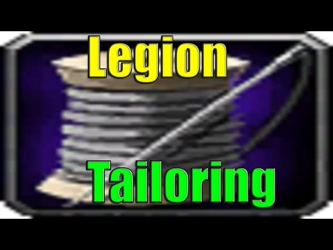 Tailoring in Legion World of Warcraft