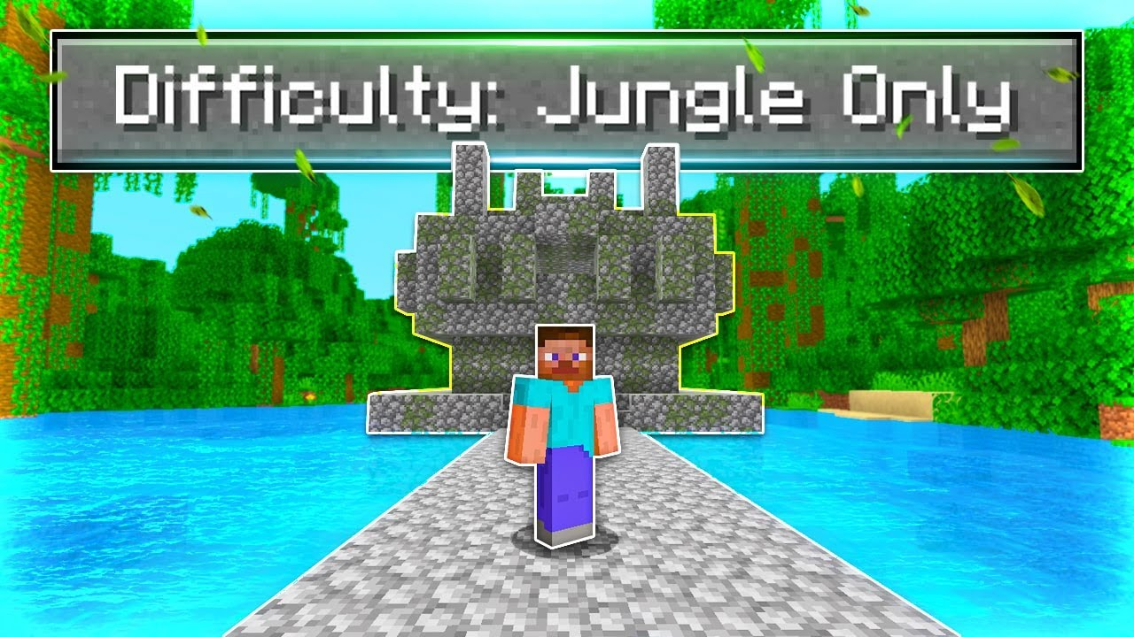 Can You Beat Minecraft In A Jungle Only World?