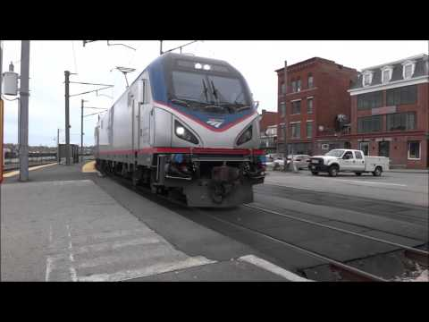 Amtrak & SLE Train Spotting @ New London Station