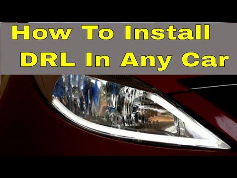 led DRL light installation