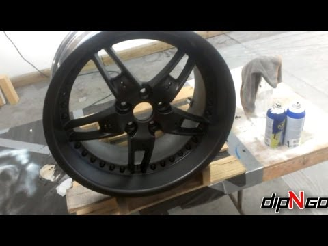 How To Spray Plasti Dip On Automobile Wheels Using Rattle Cans Step By Step