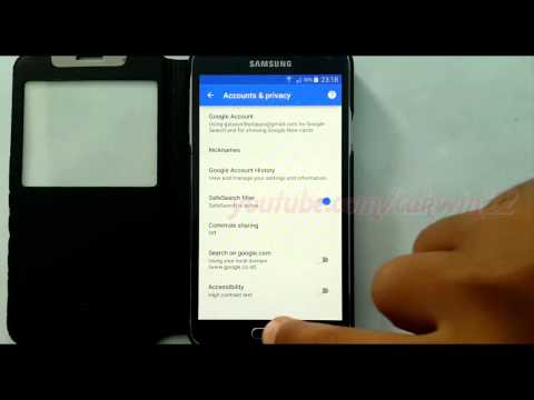 Google Search & Now : How to Turn Off or Turn on SafeSearch Filter in Samsung Galaxy S5