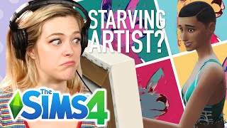 Single Girl Raises A Struggling Artist In The Sims 4 | Part 1