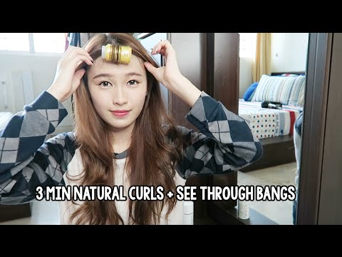 3 min Natural Curl + See-Through Bangs