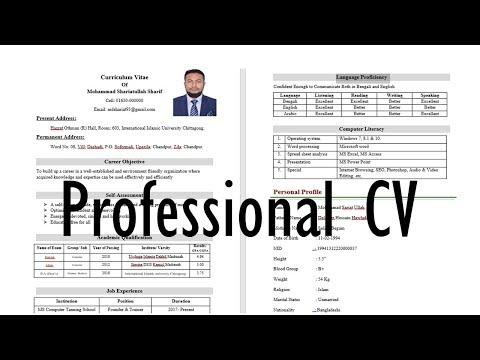 How to write professional CV | Bio-Data
