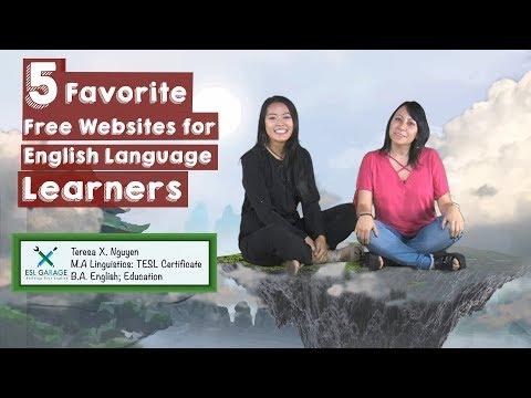 Back to School: Top 5 WEBSITES for English Language Learners🖥💻⌨️🌎🌍|| ESL Websites🇺🇸🤗