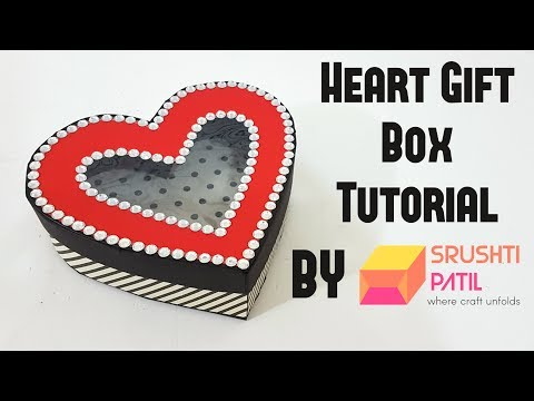 Heart Gift Box Tutorial by Srushti Patil | Valentine Special