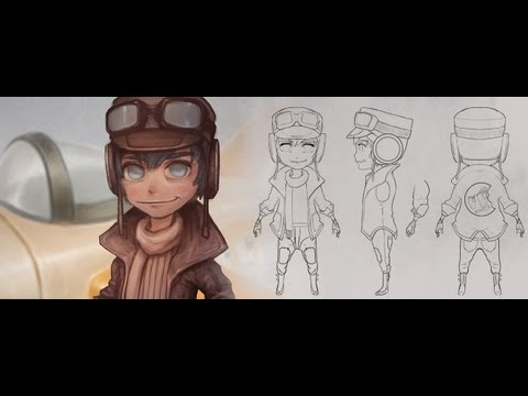 Creating a Stylized Character Turnaround from Concept