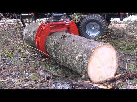 ATV hydraulic timber trailer