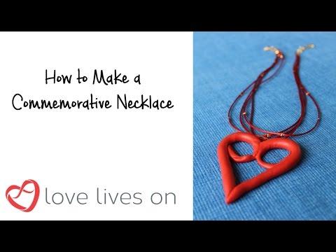 Memorial Craft: Commemorative Love Lives On Pendant & Necklace