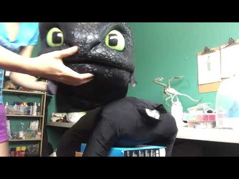 Toothless Cosplay WIP