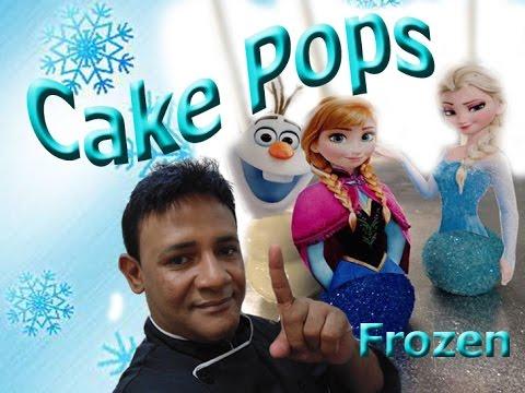 Bolo no Palito - Passo a passo Cake Pops Frozen