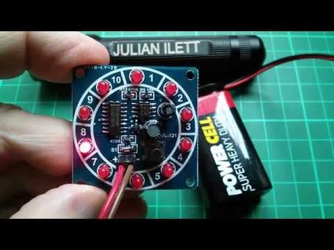 Basic Electronics: Surface Mount Components Kit - 555 Roulette