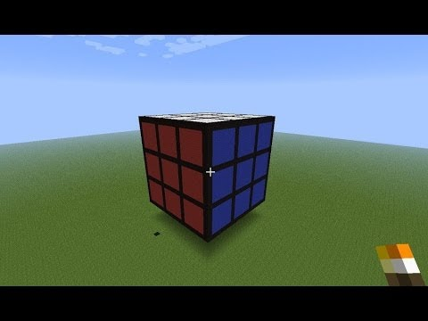 Minecraft- how to make a rubik cube