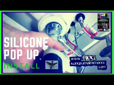How To Install A Pop Up Drain ~ The Silicone Method ~ For Stone Granite Or Cultured Marble