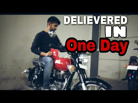 Delievered in 1Day ROYAL ENFIELD REDDITCH RED Classic 350 | BS4 | 2017