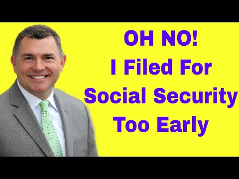 Filed Social Security Too Early? Here's What To Do