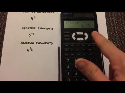 Exponents: Positive, Negative and Fraction on your Calculator (Sharp EL-520X)