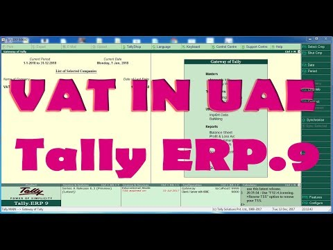 VAT IN TALLY ERP.9 (Release 6.3) UAE