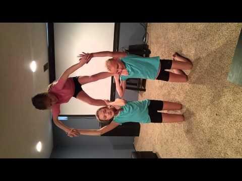 3 people acro stunts
