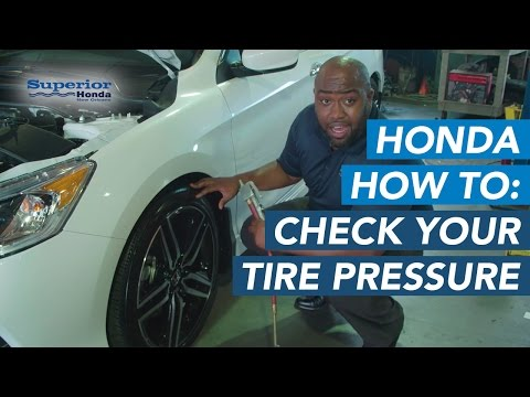 How to Check the Tire Pressure on your Honda