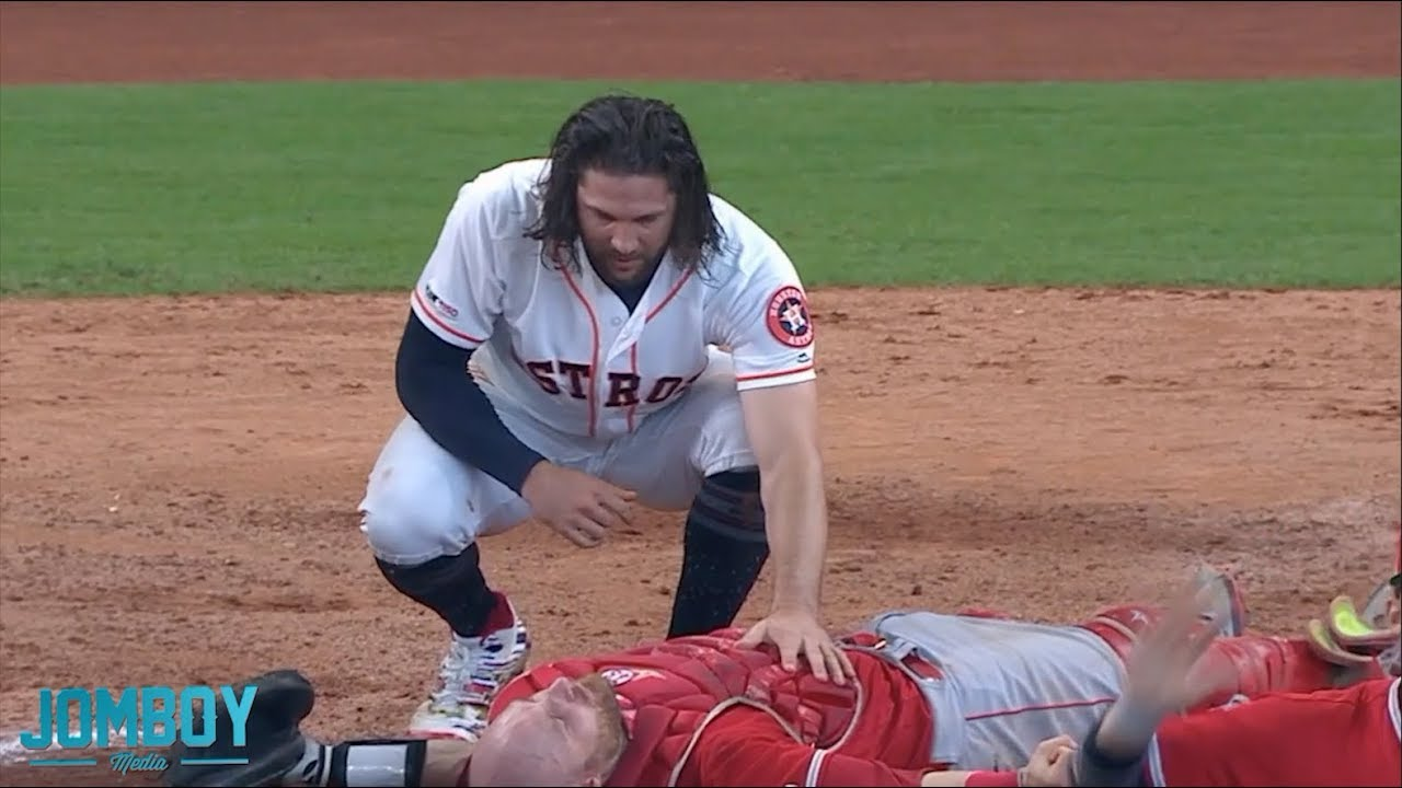 Marisnick collides with Lucroy at the plate, a breakdown