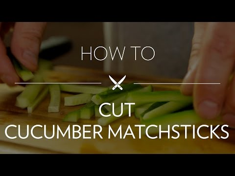 Cutting Cucumber Matchsticks