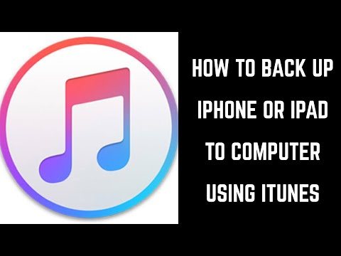 How to Backup iPhone or iPad to Computer Using iTunes