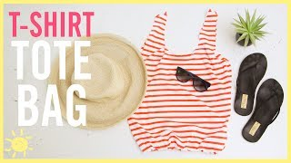 DIY   NO Sew T-Shirt Bag (SO Easy!!)