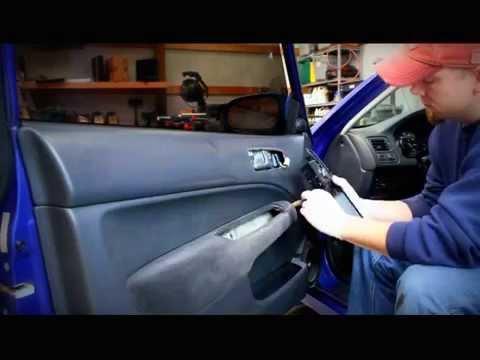 Honda Civic Door Panel Removal...How to repair the power window in your door!