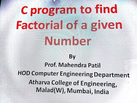 C program for Factorial of a given Number