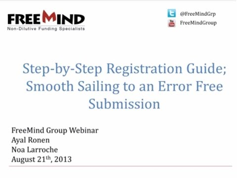 Webinar: Registration ins and outs; smooth sailing to an error free submission - Wed Aug 21st