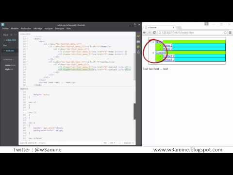 Create and Center a Horizontal (Dropdown) Navigation Menu