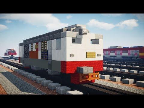 Minecraft Kereta Api BB 304 Locomotive Train Tutorial