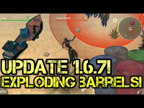 New update 1.6.7  New shipwreck event exploding barrels! last day on earth!