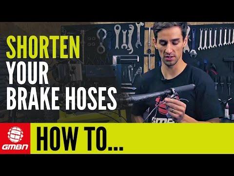 How To Shorten Your Disc Brake Hoses   Mountain Bike Maintenance
