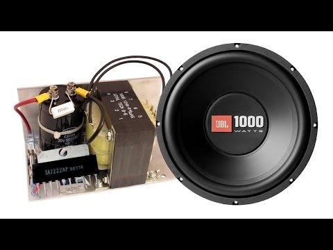 How to make home subwoofer amplifier (TDA7222 AP)