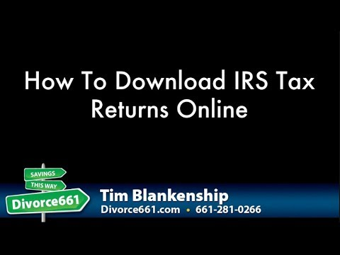 How To Download IRS Tax Returns Online