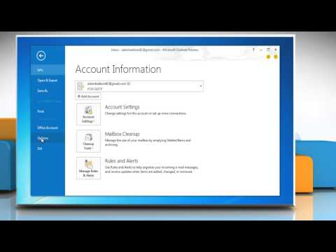 How to change Microsoft® Outlook 2013 Email security settings on a Windows® 7PC