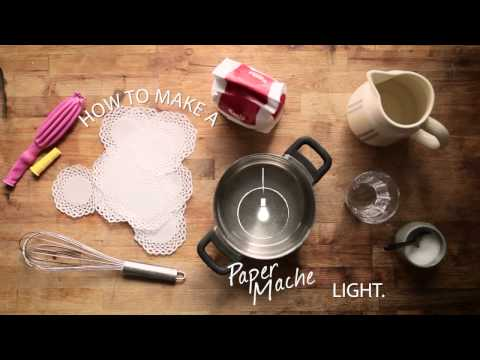 How To: Paper Máche Light