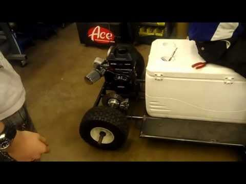 Home-made cooler Cart First Start Up
